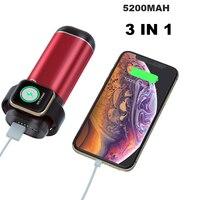 Rápida Sem Fio Magnético Carregador Sem Fio de Carregamento Da Bateria Power Bank para iPhone Apple Série Relógio iWatch Airpods 1 2 3 4 Carregadores de celular     -