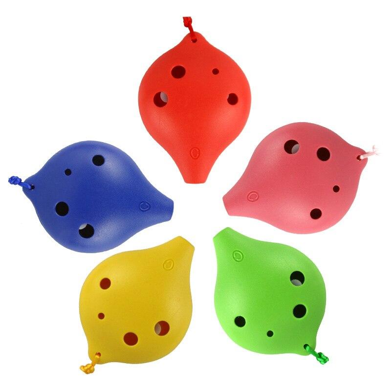 Plastic Ocarina 6 Holes Key Alto C Soprano C Teaching Music Instruments Toys For Children Musical Instruments Gift