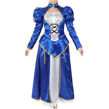 Fate/stay night Cosplay saber Arutoria Pendoragon Cosplay Costumes  Dress  Halloween cos Performing парик cos cosplay 80cm