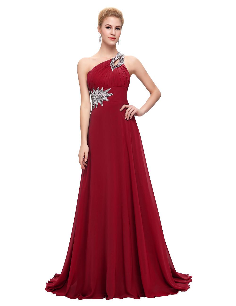 Elegant One Shoulder Long Bridesmaid Dress 13