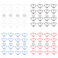 16pcs Original Spare Parts for SYMA X5C X5SC X5SW Quadcopter Mini Drone Propeller Protection Frame Protection Guard Circle