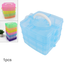 Home Storage box Three-layer 18 Grid PP Plastic Portable Detachable Hold-all Box for Small Components Jewelry Bead Pills