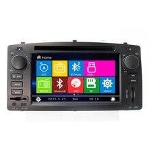 6.2 дюймов HD Dvd-плеер Автомобиля GPS Навигация Для Toyota Corolla E120 2003 2004 2005 2006 с Bluetooth Рулевого колеса управления