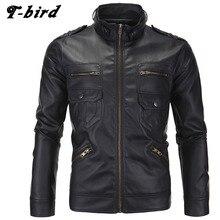 T-bird Jacket Men Winter 2017 Coat Male Bomber Jacket Men Locomotive Leather Brand Outwear Mens Cotton Jackets Clothing XXL LXMD