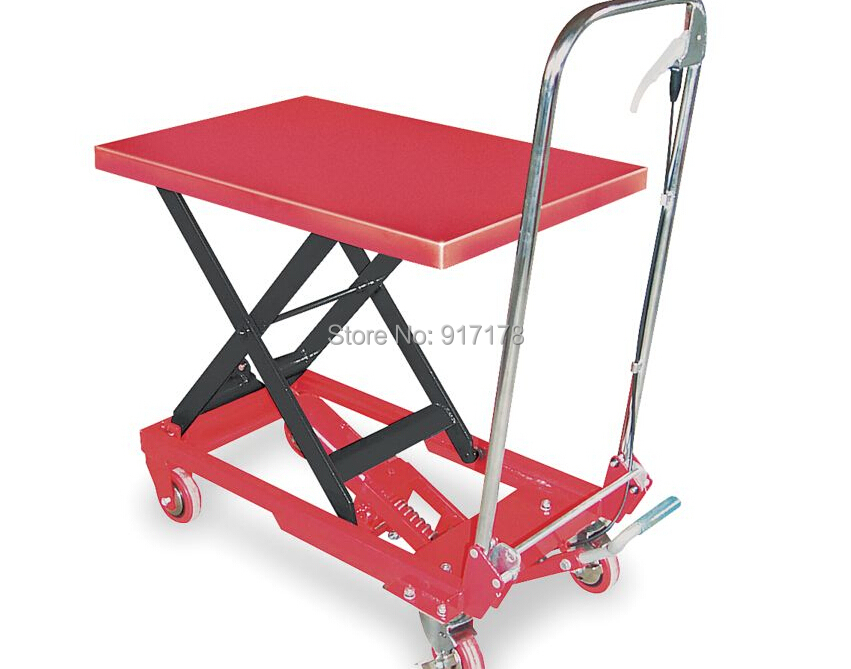 500kg scissor lift table cart  цены
