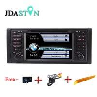 JDASTON Wince 6.0 HD Dokunmatik ekran 7 inç araba dvd radyo multimedya oynatıcı BMW X5 için M5 E39 E38 E53 stereo video can bus ile BT