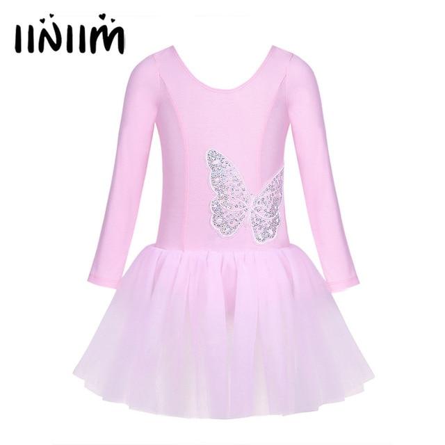 a07076817769 Girls Cotton Tulle Ballerina Sequined Butterfly Ballet Dance Gymnastics Leotard  Dress Children Teen Ballet Tutu Costume Dress