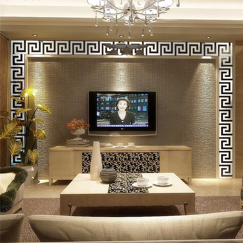 big 7280mm 10pcs acrylic wall sticker goldsilver color mirror sticker arhall bedroom home decal lucury style drop shipping
