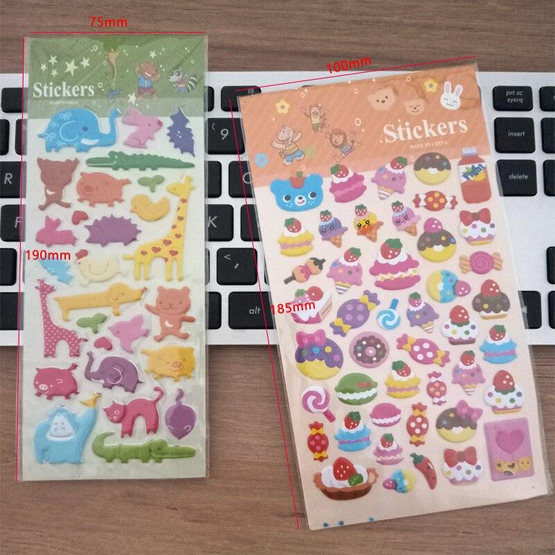Купить с кэшбэком 1pack/lot Korean Style Cartoon Animal Sticker 3D Bubble PVC Whales Cat Scrapbooking Sticker Deco Packing Children Stickers Label