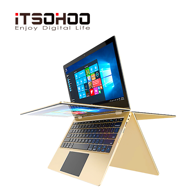 11.6 inch touch screen Netbook 2 in 1 convertible Laptops 360 degree rotating notebook computer mini intel laptop image
