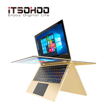 11.6 inch touch screen Netbook 2 in 1 convertible Laptops 360 degree rotating notebook computer mini intel laptop(China)