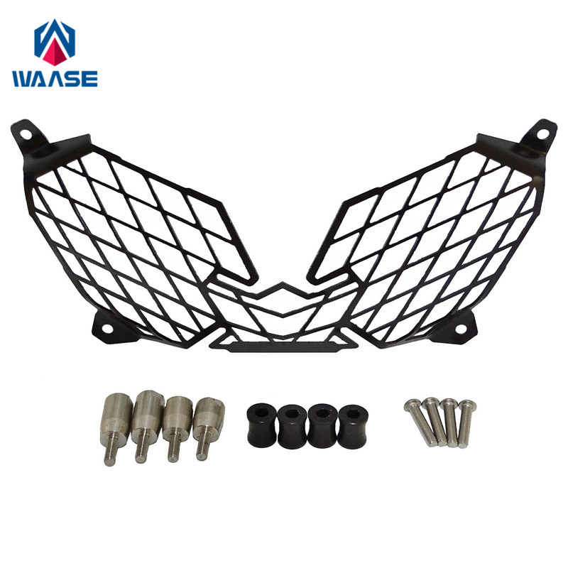 waase Headlight Head font b Lamp b font Light Grille Guard Cover Protector For Yamaha XT1200Z