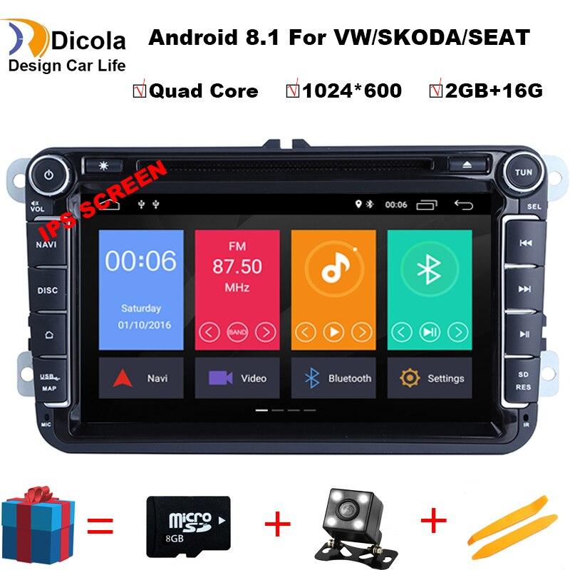 IPS Android 8 1 Car DVD for VW Volkswagen SKODA GOLF 5 Golf 6 POLO PASSAT