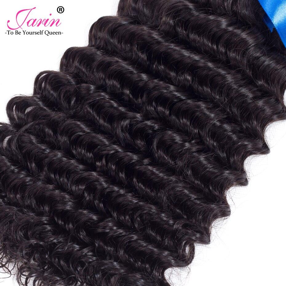 Jarin малайзийские волосы глубоко фигурные волны переплетения человеческих волос 3 Связки сделки натуральный Цвет 8-28 мокрый И Волнистые Бесп...
