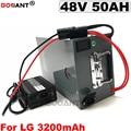 48V 50AH литиевая батарея для электровелосипеда LG 18650 13S 48V батарея для электровелосипеда Bafang BBSHD 2000W 3000W мотор с металлической коробкой