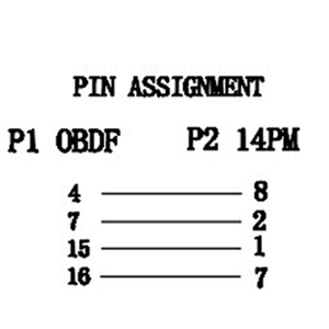 Image 5 - 14PIN OBD2 40 センチメートルニッサンための Obd ケーブル 14 ピンオス 16 ピンメス OBD2 OBDII 診断ツールアダプタ拡張コネクタケーブル
