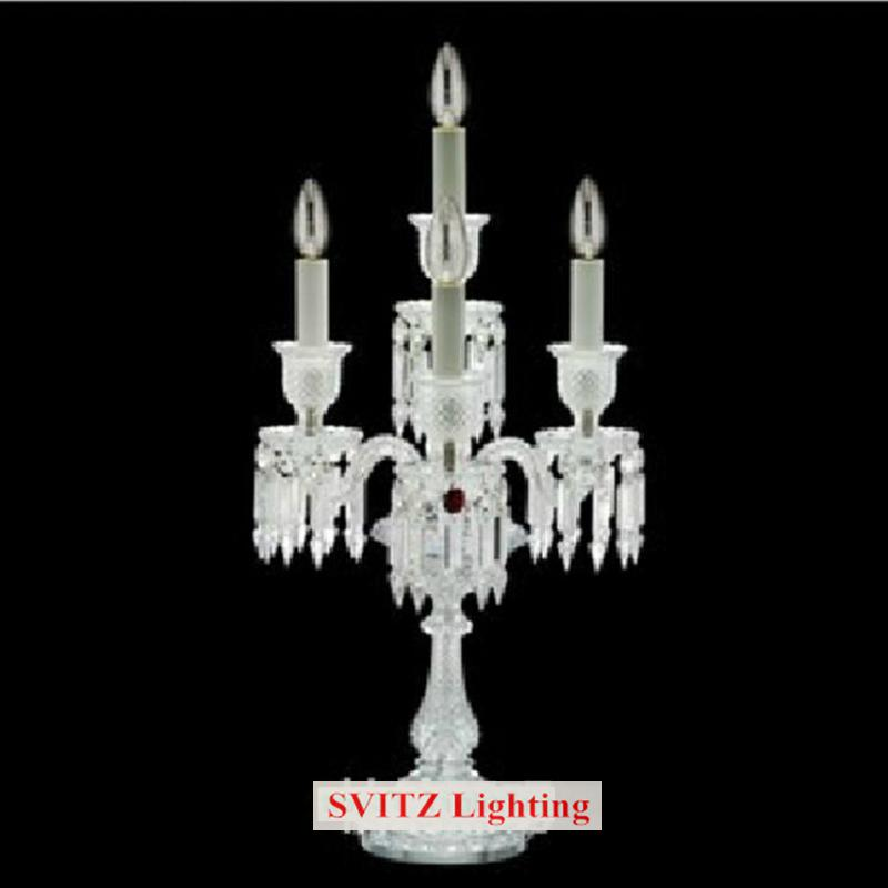 free shipping French Marriage candle holder wedding crystal candlestick table lamps dining room Restaurant candelabra