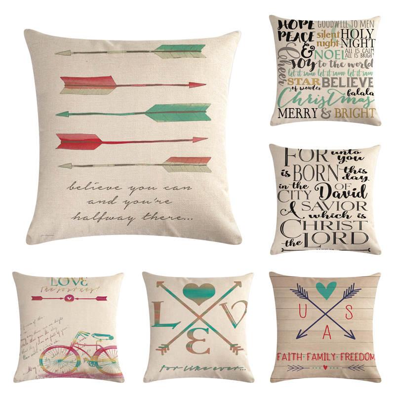 Pillow Case Hand Painted Retro Arrows Throw Pillows Cover Sofa Car Cushion Cover For Home Decorative Pillowcase Cushion Cover Cushion Cover Patternpattern Cushion Covers Aliexpress
