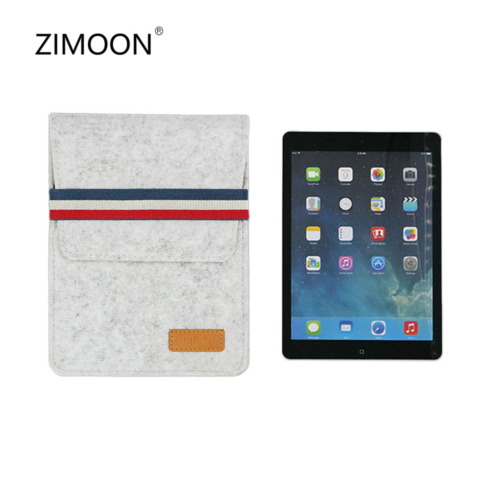 ZIMOON Case For iPad 2 3 4 iPad Air 1 2 iPad Pro 9.7 inch Felt Tablet Sleeve Bag Smart Cover For Pad 9.7 inch 2017