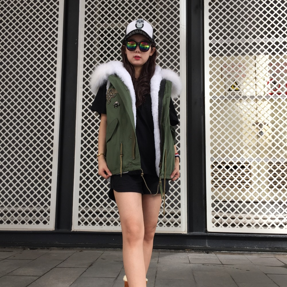 De Fausse Doublé Loisirs Dames Fourrure Vêtements Blanc Marque M Gilet Porter Top 2017 En Mme Manches Sans wO4xS7IqS