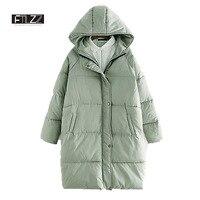 Woman Winter Coats And Jackets 2018 New Woman Causal Hooded Medium Long Parkas Mujer Female Harajuku Loose Jacket Feminino