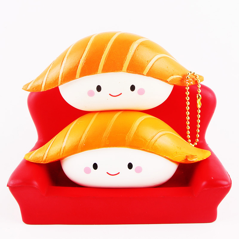 1pc Cute Emoji Squish Salmon Sushi Kawaii Soft Stress Relief Toys Slow Rising Squeeze Toys Funny gags practical jokes Toys #YL