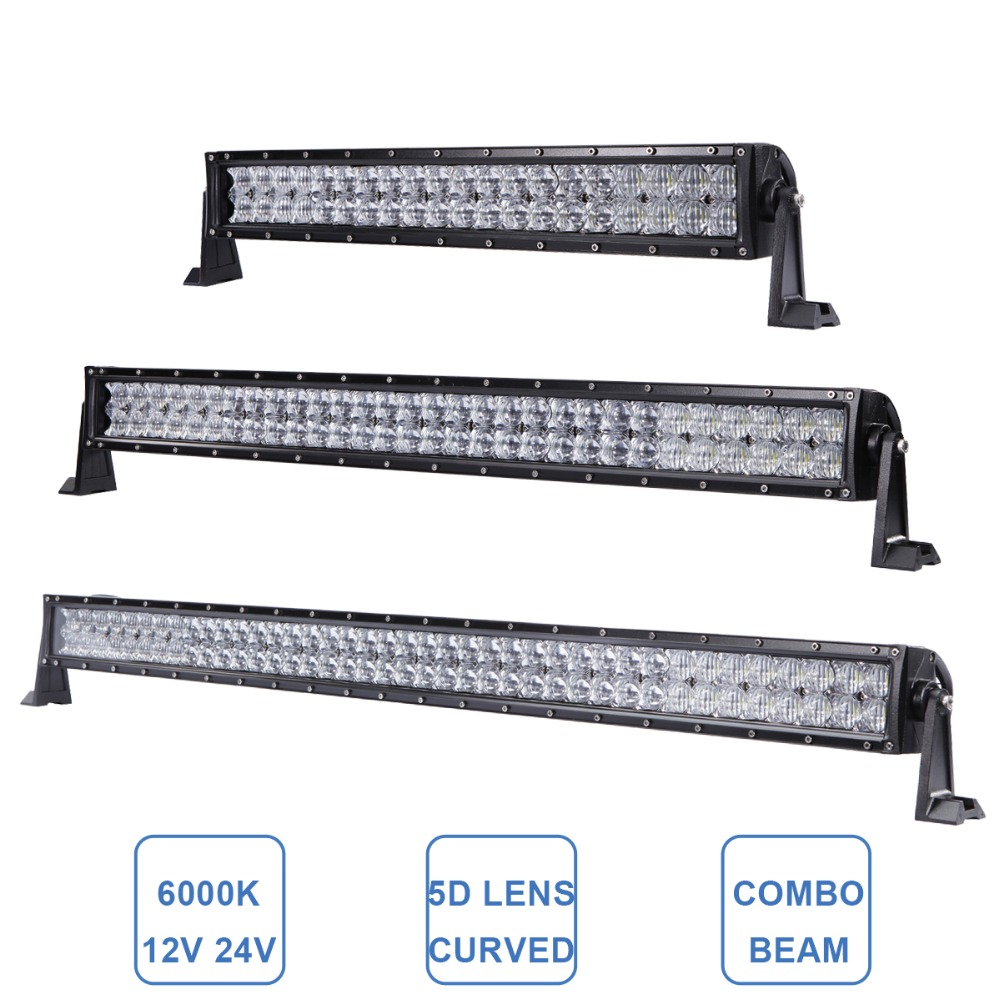 OFFROAD 22 32 42 INCH LED WORK LIGHT BAR STRAIGHT CURVED CAR SUV TRUCK 12V 24V TRAILER TRACTOR COMBO PICKUP WAGON OFF ROAD LAMP brand new universal 40 w 6 inch 12 v led car work light daytime running lights combo light off road 4 x 4 truck light