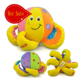 Discount Hot Sale New Tolo octopus bell ringing clear baby educational plush toy birthday gift 1pc free shipping