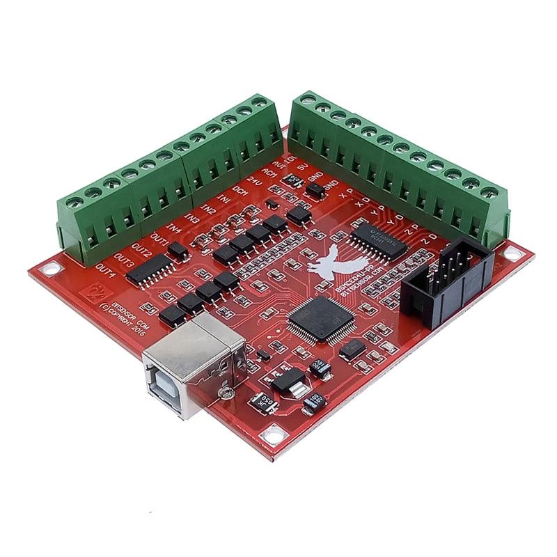 Коммутационная плата CNC USB MACH3 100 кГц 4-осевая плата драйвера интерфейса контроллера движения