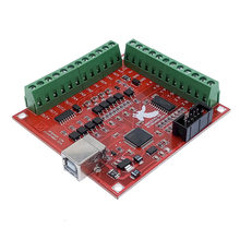 Pelarian Papan CNC USB MACH3 100 KHz 4 Sumbu Interface Driver Motion Controller Driver Papan(China)