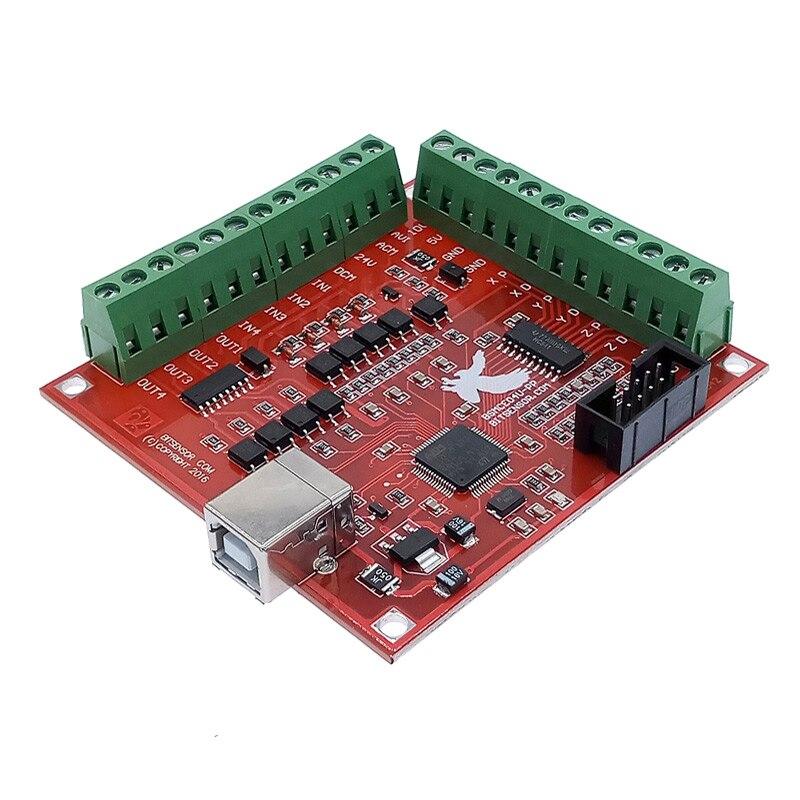 Placa de fuga cnc usb mach3 100 khz 4 eixos interface driver controlador movimento placa motorista
