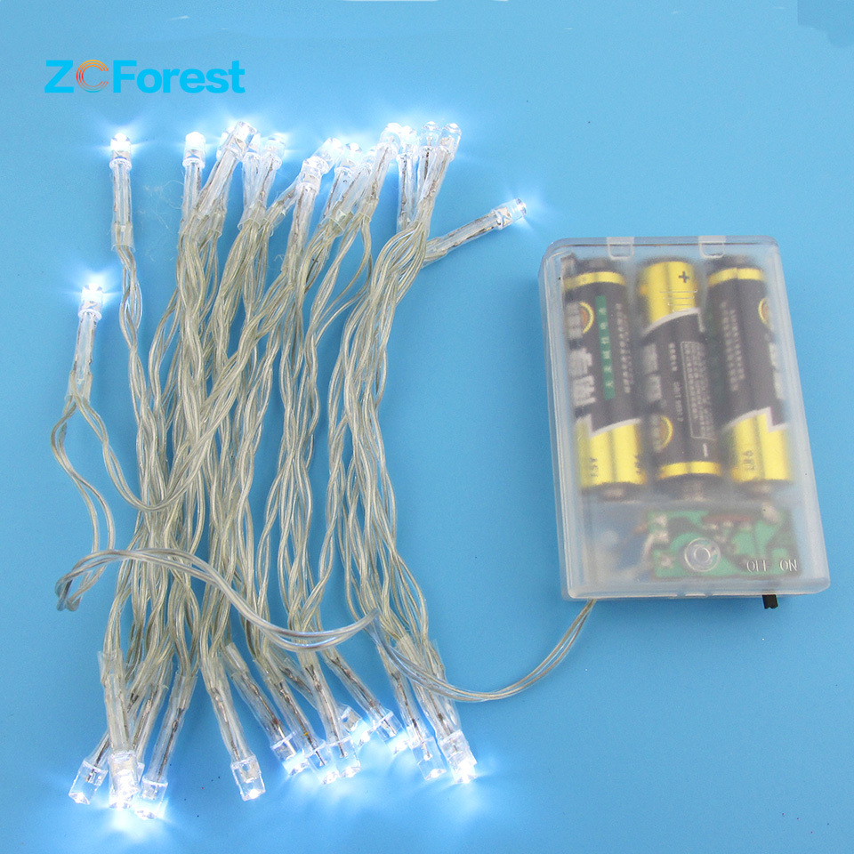 aliexpresscom buy 3m aa battery operated fairy lights 30led christmas lights indoor outdoor white garland string lights wedding lamp party decor from - Battery Operated White Christmas Lights