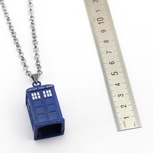 Doctor Who Necklace TARDIS Pendant Fashion link chain Necklaces Friendship Gift Jewelry Accessories