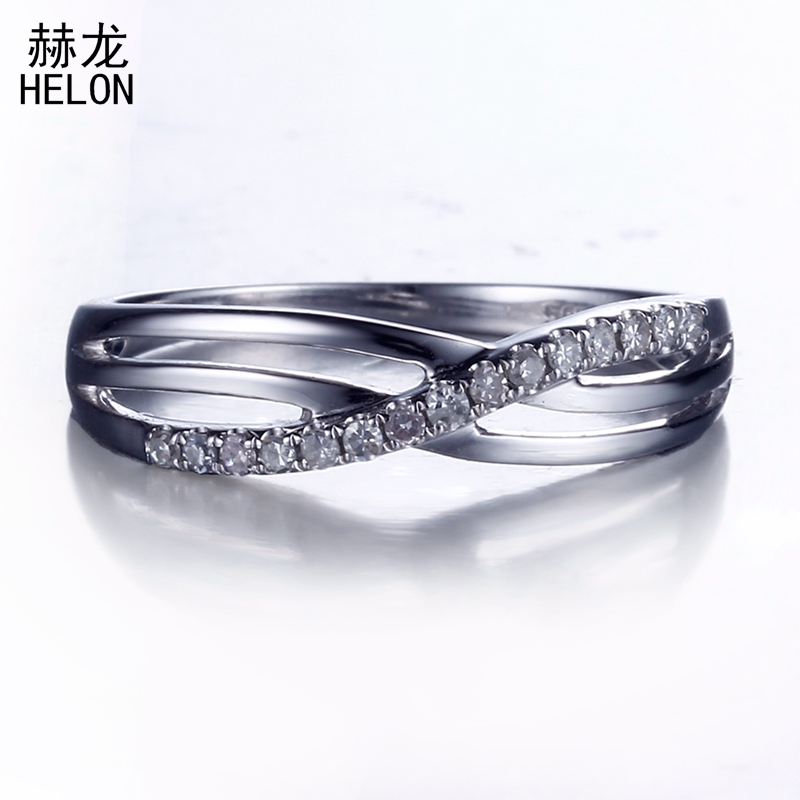 Real 925 Sterling Silver Pave Genuine Natural Diamonds Engagement Wedding Ring Band Half Eternity Women Trendy Jewelry Fine Ring