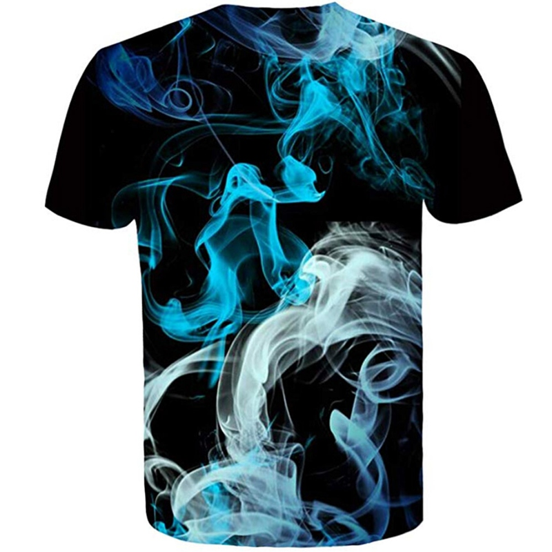 All Over Print T-shirt Men T-shirt Smoking The Universe Short Sleeve O-neck Tops Tee Women T Shirt
