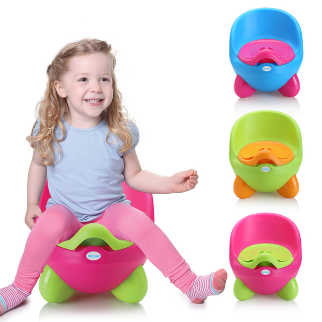 Cute Baby Potty Training Toilet Non-slip Kids Toilet Seat Foldable Protable Travel Potty Chair Infant Children Pee Trainer