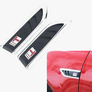 Image 2 - New Car Shark Gills Outlet Stickers Simulation Air Outlet Side Hood Car Styling Modification Vent Fender Air Net Door Decals