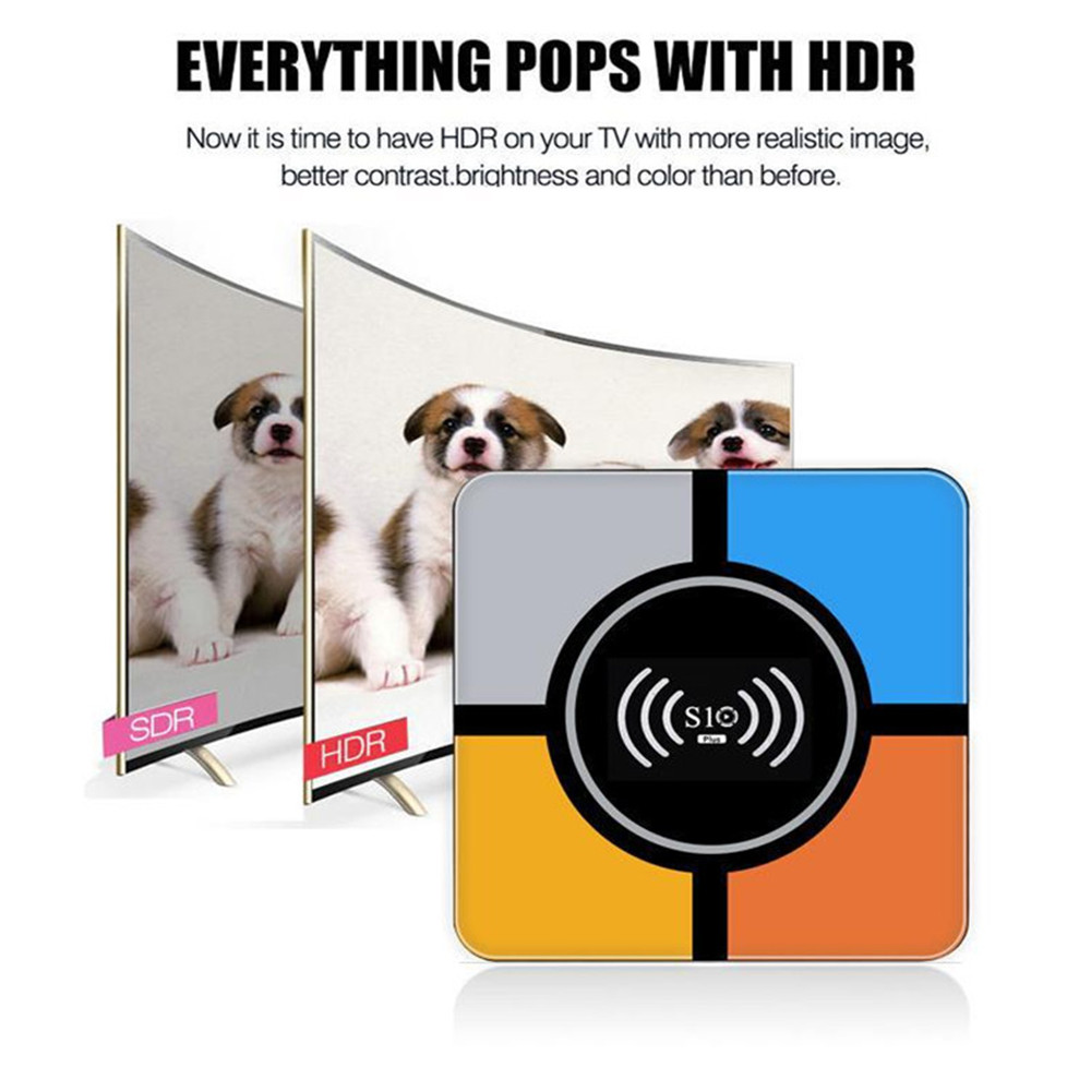 Image 5 - RK3328 R TV BOX S10 Android 8.1 HD Smart Network Player TV BOX Wireless Charging Smart TV Android Box-in Set-top Boxes from Consumer Electronics