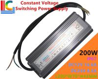 200W Constant Voltage Switching Power Supply 12V 24V IP67 Waterproof LED Driver Adapter16 6A 8 3A