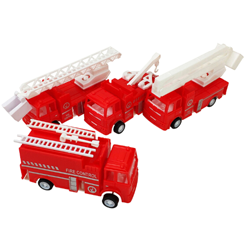 1PC Fire Engine Truck Diecast Model Rotatable Fire Truck CarFire Fighting Truck Diecast Sprinkler Fire Engines Toys For Children