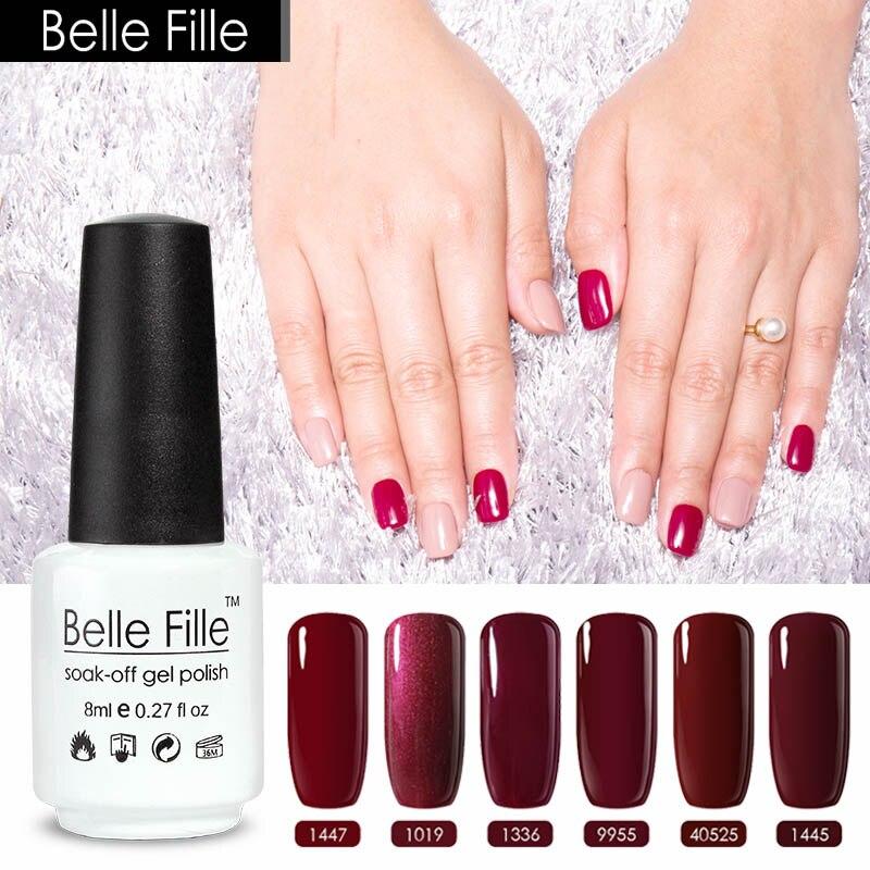 8ml Fake Nails Red Nail Gel Colors Ruby Scarlet Crimson Coral Prune ...