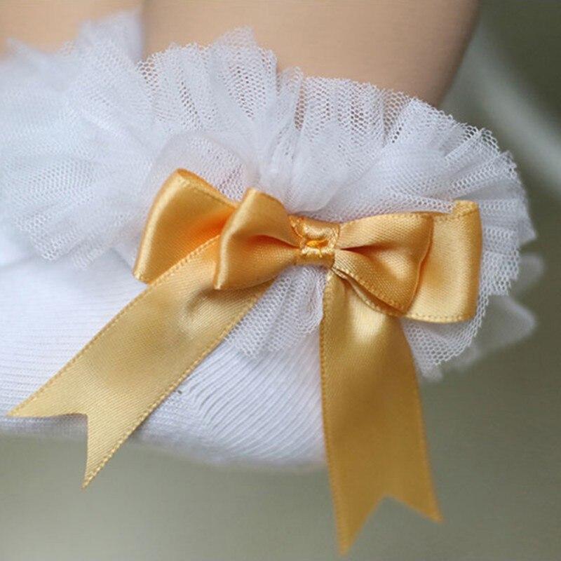 2018 Baby Socks Newborn Cotton Baby Socks Kid Ruffled Chaussette Bebe Knitted Knee Lace Leg Warmers A
