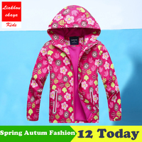 Liakhouskaya 2018 Spring Children Girls Jackets Kids Casual Windbreaker For Girls Outerwear Hoodies Double Deck Waterproof