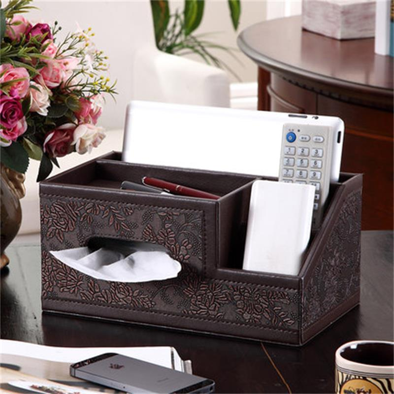 2018 NEW wooden storage box jewelry organizer box storage office desk organizer torage box case organizer for cosmetics tissue
