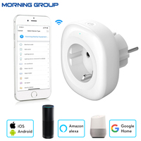 Wifi Smart Socket EU Plug Mobile APP Remote Control Works With Amazon Alexa Google Home No