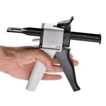 Для Зубных слепков смешивающий диспенсер пистолет Универсальный диспенсер Gun 1:1/1:2 силиконовой резины диспенсер Gun 10:1 50 мл стоматологические инструменты