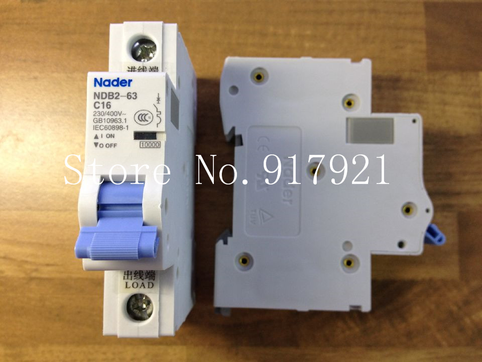 [ZOB] Nader letter NDB2-63 C16 miniature circuit breaker 1P16A unipolar air switch to ensure genuine --12pcs/lot