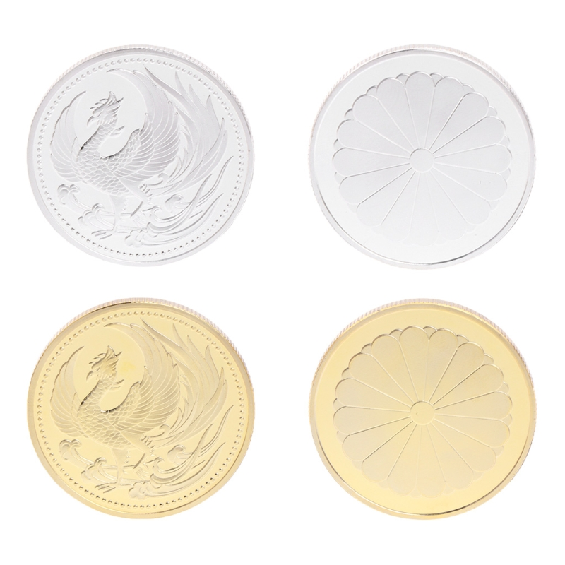 2018 NEW Commemorative Coin Japan Phoenix Gold Silver Collection Gift Souvenir Crafts Art #20/28L