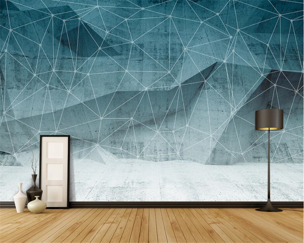 geometric mural abstract wall murals living hotel background kid zoom beibehang wallpapers