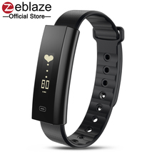 Zeblaze Arc Sang Pression/Sang D'oxygène Smart Bracelet Moniteur De Fréquence Cardiaque Santé Hebdomadaire Rapport Fitness Bracelet IP67 Smartband